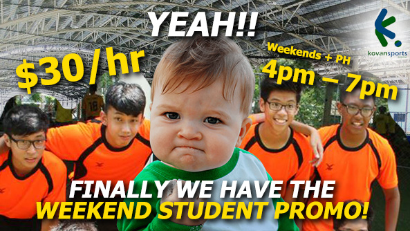 Weekend Student Promo !