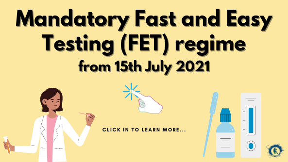 Mandatory FET for coaches, instructors and staff